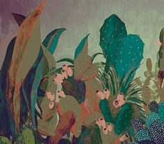 glice print, illustr glice, cacti, illustrations, screen printing, art, cactus illustr, friend memori, prints