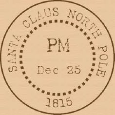 Santa Claus North Pole rubber stamp