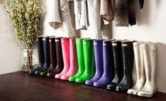 Colorful Hunter rainboots