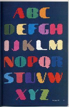 Ondori cross-stitch alphabet, I need some words to stitch in this...