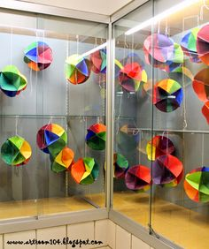 Art Room 104: 5th Grade: 3-D Color Wheel Display