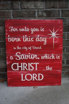 Large Rustic Christmas Sign Decoration You choose by krazydaizy