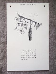 2012 CALENDAR - FLOWERS & FEATHERS