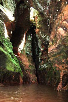 Sea Caves in the Apostle Islands | Love & Adventure