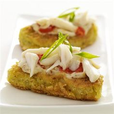 Bring some Southern flair to your Lent supper with these Fried Green Tomatoes & Crab & Creole Mustard.