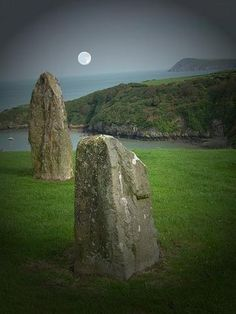 Men-an-Tol, a small formation of standing stones near the Madron-Morvah road in Cornwall, England.