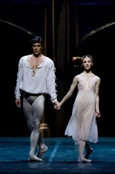 Roberto Bolle and Alina  Cojocaru in Romeo and Juliet. Alla Scala Theatre, Milan.