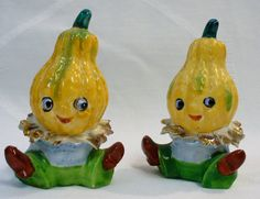 Mid Century Vintage Anthropomorphic Vegetables from TickTockTreasures on etsy