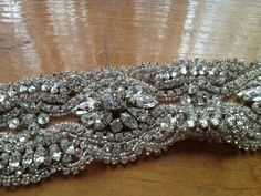 Beautiful Swarovski Crystal Bridal Trim - available on our Etsy store