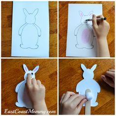 Bunny Puppet... free printable template included