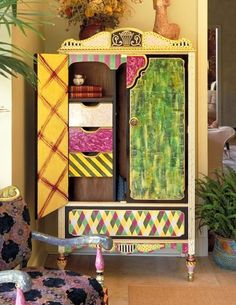 Whimsical Painted Furniture | SUZANNE FITCH ||| HAND PAINTED FURNITURE home