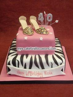 Elegant Birthday Cakes for Women  Cake L050 :: Womens Birthday Cakes ...