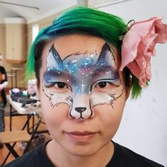 Fox face mask Galaxy fox— cool! Love the galaxy colors and the constellation dots