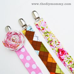 DIY Pacifier Clips ~ great for baby shower gifts #baby #gifts #crafts