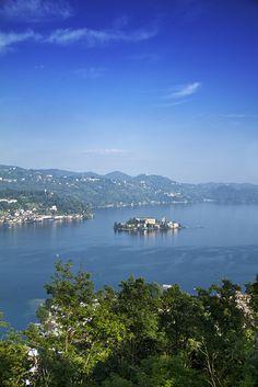 Lake Orta, San Giulio Island - Ronco, province of Novarra,  Piedmont, ITALY.