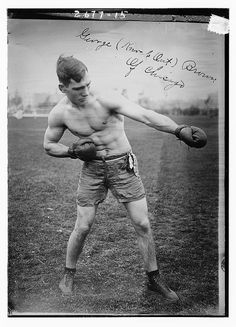 """Chicago boxer, George """"Knock Out"""" Brown, c.1910."""
