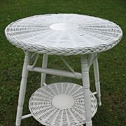 Round Bar Harbor Wicker Table