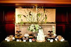 Wedding Dessert Table...minus the grass.