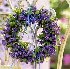 garden decorations, purple flowers, violet, purpl wreath, spring wreaths, floral wreaths, summer wreath