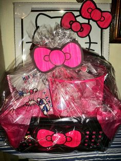 made this hello kitty basket for a silent auction :)