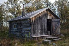 Old silvered cabin in Sörvallen, Härjedalen, Sweden.