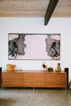 sideboard and modern art