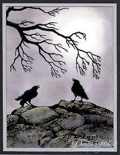 Moonlit Ravens