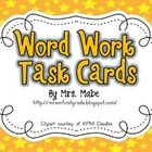 Ultimate set of task cards for word work in your classroom.  Set includes 44 word work activities, along with 4 blank task cards for programming.  ...