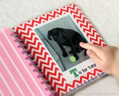 Personalized ABC Book: This is my daughter's absolute favorite book. She brings it every where and it was so simple to make! If you don't have a laminator, just slide your 4x6 pages into a small flip $1 photo album!