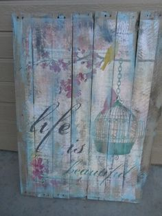 Pallet Art by chinells on Etsy, $70.00
