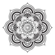 Wall Mural Mandala. Round Ornament Pattern