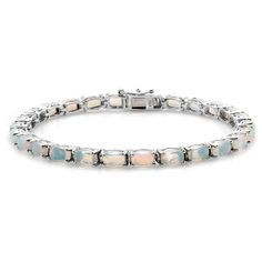 Liquidation Channel:  Ethiopian Welo Opal Bracelet in Platinum Overlay Sterling Silver (Nickel Free)