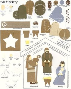 laura's frayed knot: Paper-Punch art - Nativity