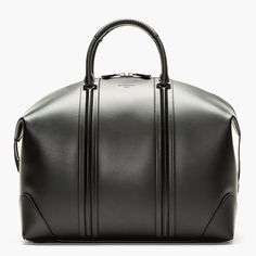 Black Leather LC Duffle Bag by Givenchy