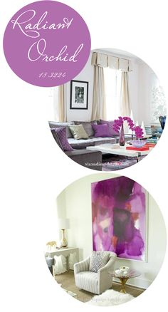 Radiant Orchid in your home decor. #Pantone