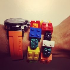 Lego bracelet by burcutansug on Etsy, $30.00