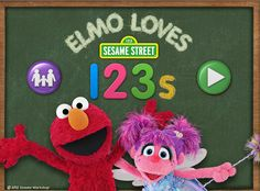 Best apps for preschoolers to teach counting: Elmos Loves 123s app