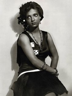 "Nina Mae McKinney (1913 - 1967) was an American actress. Dubbed ""The Black Garbo"", she was one of the first African-American film stars and was one of the first African-Americans to appear on British television, featuring in the demonstration film broadcast each morning for the benefit of installers and engineers."