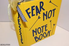 """""""Fear Not Notebook"""" - to help with anxiety - Individuals can make these and fill them up with words and images that bring peace and comfort.. and there's also room to journal about whatever is making them feel anxious!"""