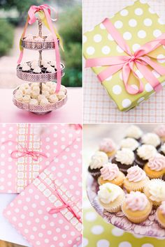 michelle warren photography - Enjoy Cupcakes - Preppy Pink and Green Bridal Shower :: Snippet & Ink