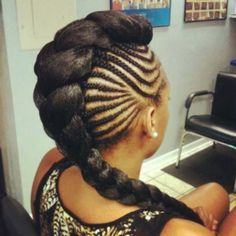 my next hair style ! #mohawk #braids #color