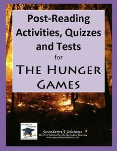 Complete set of Post-Reading Activities, Quizzes, and Tests for assessing your students reading and comprehension of The Hunger Games! $6.99