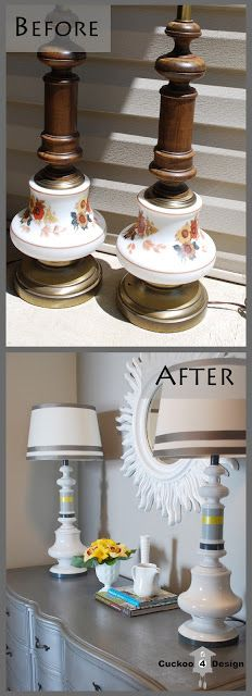 Wow wish I could visualize this when I see those ugly lamp shades at an old ladies garage sale!! Hmmm:) #upcycle
