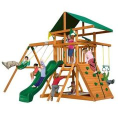 """""""This looks like so much fun!  It's so awesome. """"  -Josie. We have already purchased the longest green slide.  Gorilla Playsets Outing III Play Set-01-0001 at The Home Depot"""