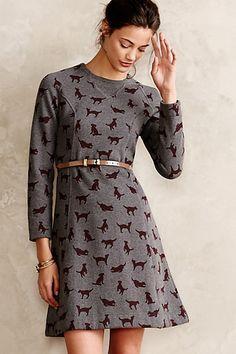 Puppy Love Sweatshirt Dress #anthropologie #anthrofave