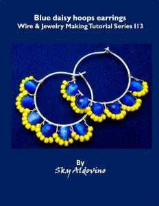 FREE PDF I3 Blue Daisy wire jewelry tutorial