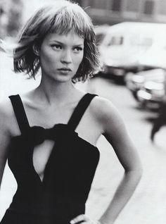 icon, model, fashion, style, harper bazaar, peter lindbergh, black, kate moss, photographi