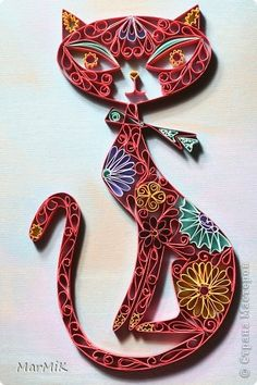 Quilled mod-cat. Love this!