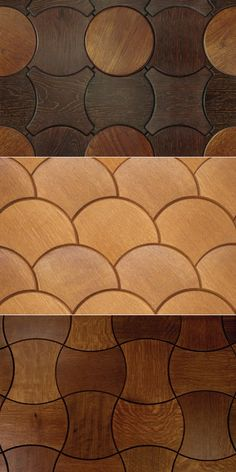 Patterned Wooden Tiling from Jamie Beckwith