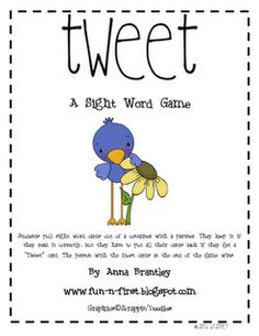 Sight word game.